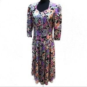 Vintage 80's floral dress